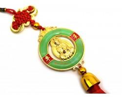 Golden Kwan Yin Ping An Kou Tassel