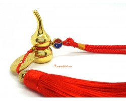 Golden Metal Wu Lou Tassel