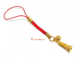 Golden Pagoda with Bell Mobile Hanging