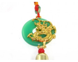 Golden Piyao on Jade Disc Tassel