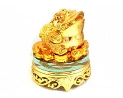 Golden Rotating Money Frog for Wealth Luck