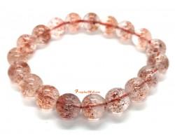 Golden Strawberry Quartz Bracelet (Top grade)