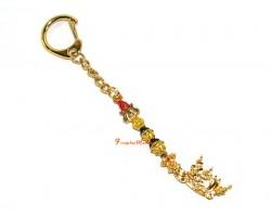 Golden Trident of Guru Rinpoche Keychain
