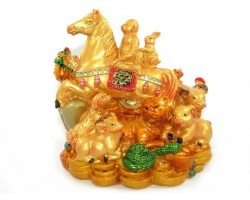 Good Fortune Horse with Horoscope Friends