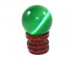 Cats Eye Crystal Ball - Green