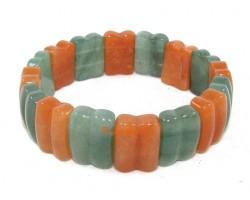 Green and Orange Aventurine Crystal Bracelet