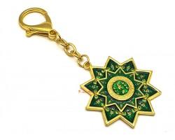 Green Tara Protection Wheel Keychain