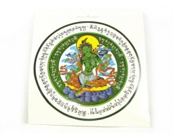 Green Tara Window Amulet Sticker (2 pieces)