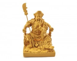 Guan Gong Sitting on Chair Figurine