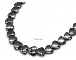 Hematite Heart Shape 2-Round Bracelet