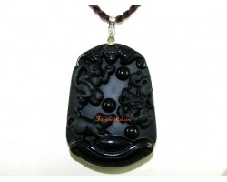 High Quality Horoscope Allies Obsidian Pendant - Rat, Dragon and Monkey