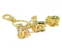 Golden Horoscope Allies and Secret Friend Keyring for Tiger