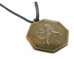Horoscope Coin Pendant Amulet - Dog