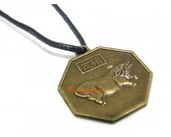Horoscope Coin Pendant Amulet - Pig