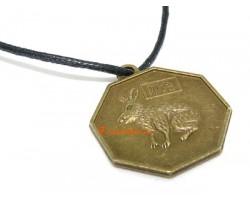 Horoscope Coin Pendant Amulet - Rabbit