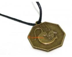 Horoscope Coin Pendant Amulet - Rat