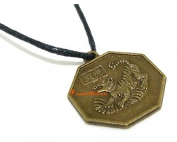 Horoscope Coin Pendant Amulet - Tiger