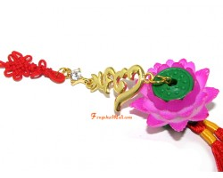 Bejeweled Hum with Lotus Hanging