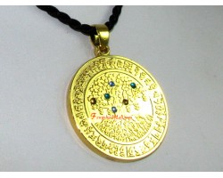 Tree of Life with Increasing Jewel Medallion Pendant