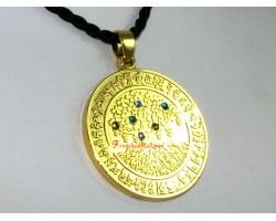 Tree of Life with Increasing Jewel Medallion Pendant