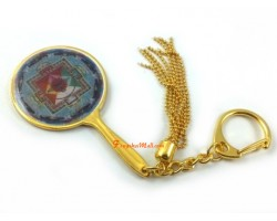 Inner Celestial Mansion of Avalokiteshvara Mirror Keychain