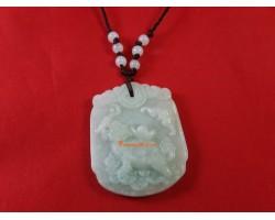 Jade Feng Shui Dragon Tortoise Pendant