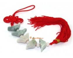 Jade Five Ingots Feng Shui Tassel
