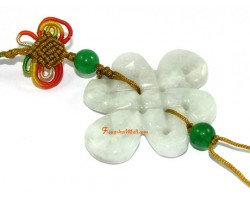 Jade Mystic Knot Lucky Charm Hanging