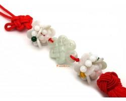 Jade Mystic Knot with Lotus Tassel