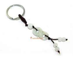 Jade Power of 8 Feng Shui Keychain