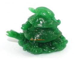 Jadeite Three Tier Feng Shui Tortoises