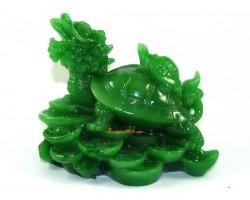 Jadeite Dragon Tortoise with Child