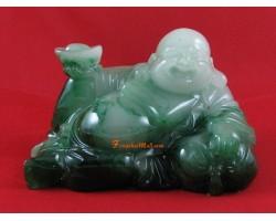 Jadeite Laughing Buddha Holding Gold Ingot