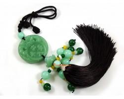 Jadeite Piyao Biting Coin Tassel