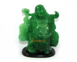 Jadeite Travelling Laughing Buddha
