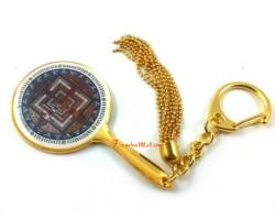 Kalachakra Mandala Mirror Keychain