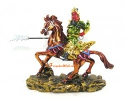 Colorful Kwan Kong on Horse
