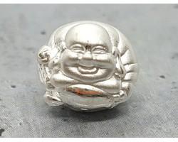 Laughing Buddha 999 Silver Bead Charm