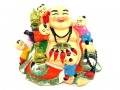 Laughing Buddha with Children and Dragon Ru Yi