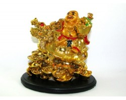 Laughing Buddha on Dragon Tortoise
