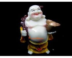 Feng Shui Laughing Buddha with Ingot