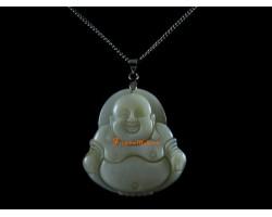 Laughing Buddha Shell Pendant