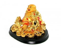Laughing Buddha with Money Frog