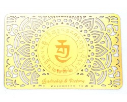 Leadership and Victory Gold Talisman Card