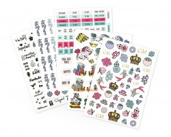 Lillian Toos Stickers for Health, Wealth & Happiness