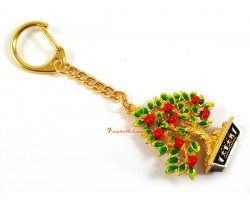 Lime Tree Keychain for Wealth Luck
