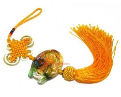Colorful Crystal Liuli Arowana Tassel