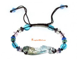 Colorful Liuli Feng Shui Ruyi Bracelet