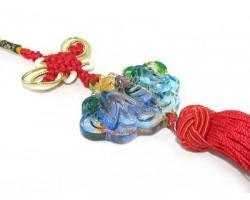 Colorful Crystal Liuli Fortune Bat Tassel