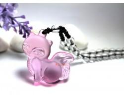 Liuli Glass Fox Pendant Necklace